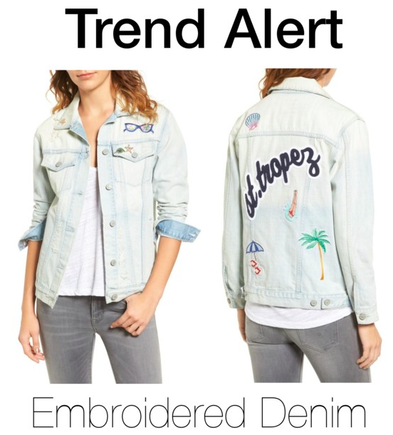 Trend Alert: Embroidered Denim